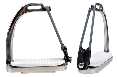 Pair of safety stirrups made of stainless steel