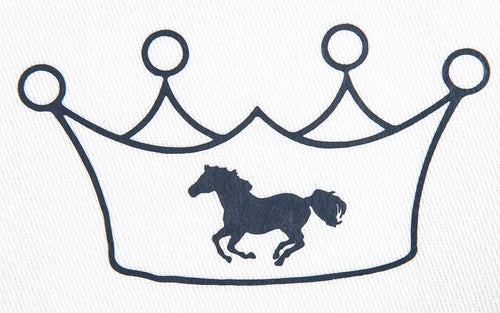Iron On Motive Crown with Horse (Set of 5)