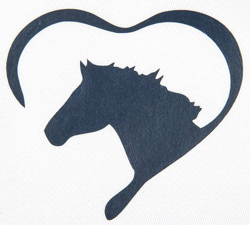 Iron on motif Heart with Horse (Set of 5)