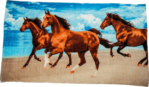 Bath/Beach towel - 3 Horses-