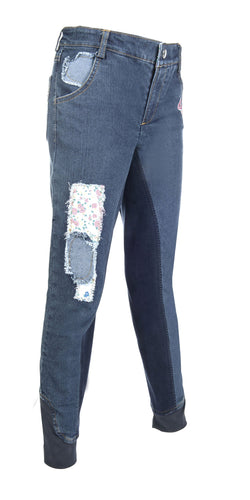 Riding breeches -Wendy Denim- 3/4 Alos seat