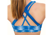 Blue Tribal Strappy Bra Top