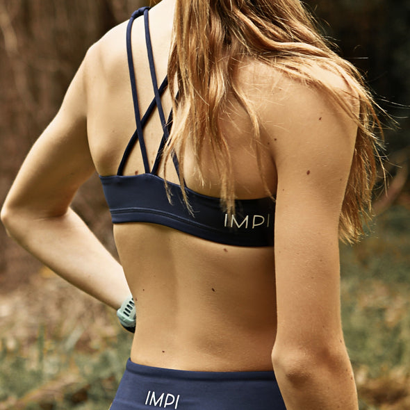 IMPI High Waist Running Shorts - Navy Blue