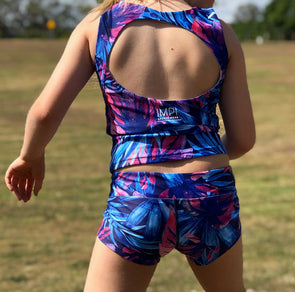 Bright jungle Little IMPI cheeky short for girls running gymnastics activewear for girls shorts