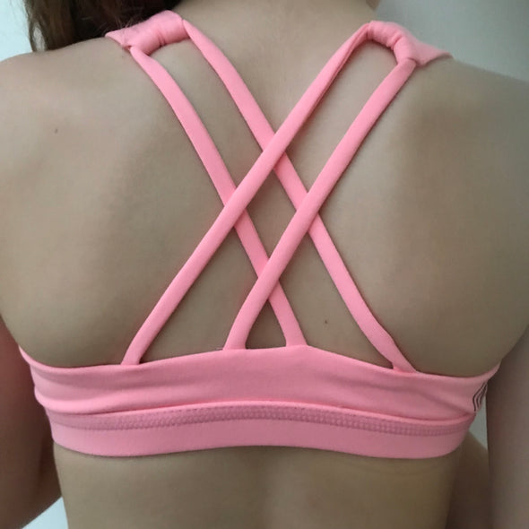 Bright Pink Strappy Bra Top