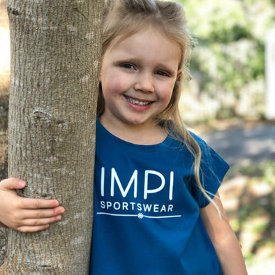 Little IMPI logo girl's Tee - Blue