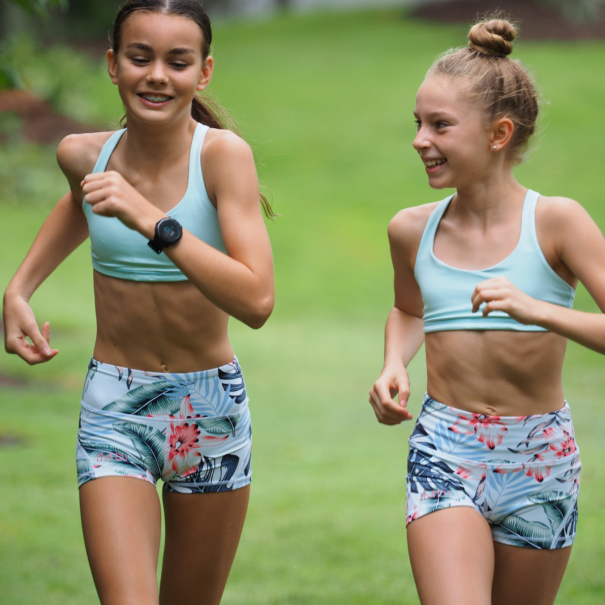 IMPI High Waist Running Shorts - Summer Florals