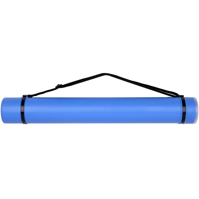 Transon Poster Storage Tube for Artworks, Blueprints, Drafting and Scrolls Color Blue