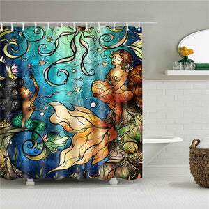 Mermaid Fabric Shower Curtain