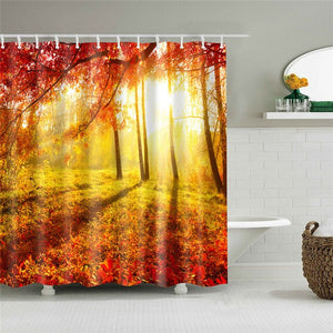 Autumn Light Fabric Shower Curtain