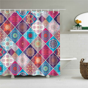Patchwork Fabric Shower Curtain