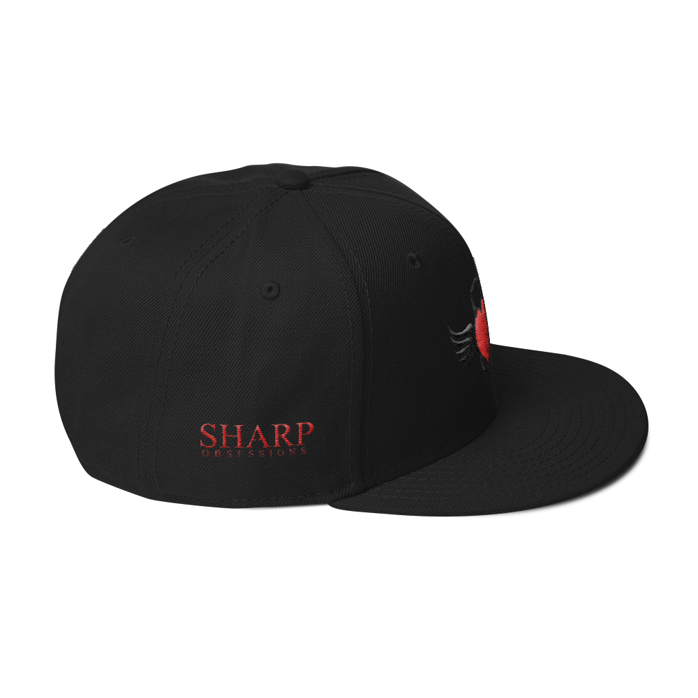 Sharp Obsessions LOGO (Red/3D Embroidery) [Snapback Hat]