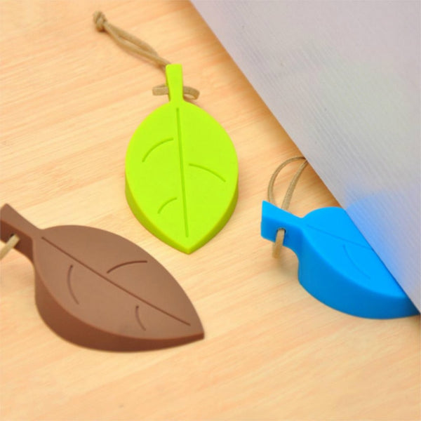 1pc Silicone Door Stopper Kids Baby Safety Door Stop Leaf Shape Anti-pinch Finger Protection Kids Door Guards Safe Protector - Wel Bell