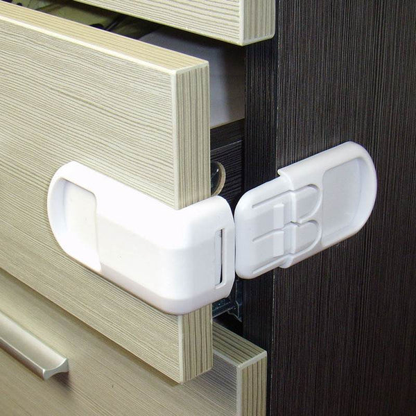 5 Pcs/Lot Child Lock Baby Drawer Safety Lock Convenient Functional Kids Door Fridge Safety Lock Toilet Closet Plastic Lock - Wel Bell