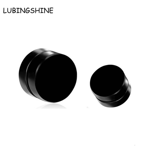 8mm Magnet Magnetic Ear Stud 1Piece Fashion Non Piercing Clip Stud Earrings Fake Earrings for Boyfriend Lover Black E98 - Wel Bell