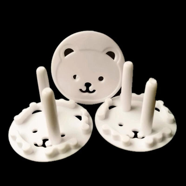 High Quality 10Pcs Cute Bear EU Power Socket Cover Plugs Cover Child Baby Safety Protector Proof Anti Electric Shock Guard Cap - Wel Bell