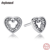 New Collection Good Quality Cute 925 Sterling Silver Cartoon Mickey Earring For Girls - Wel Bell