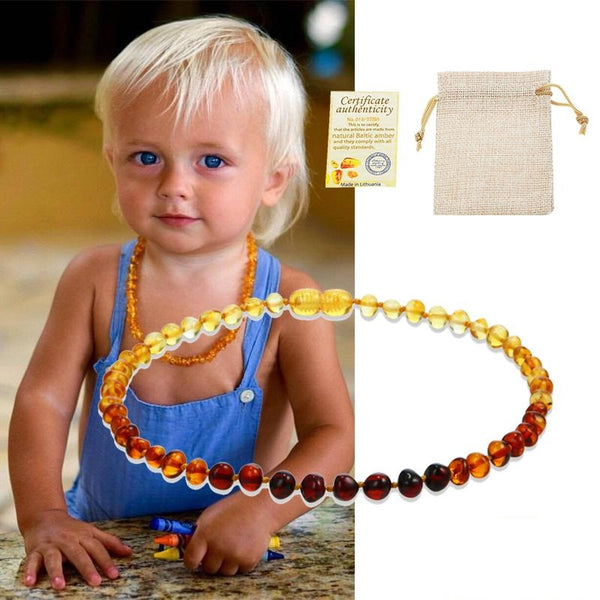 Necklace for children from Baltic amber - Wel Bell