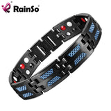 RainSo Titanium Health Magnetic Bracelet Blue Color 4 Elements High Quality Luxury Bangles & Bracelets Gift for Man Woman - Wel Bell