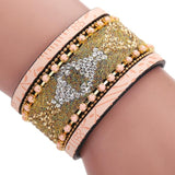Women Bohemian Magnetic Clasp Bracelets Wrist Chains Gold