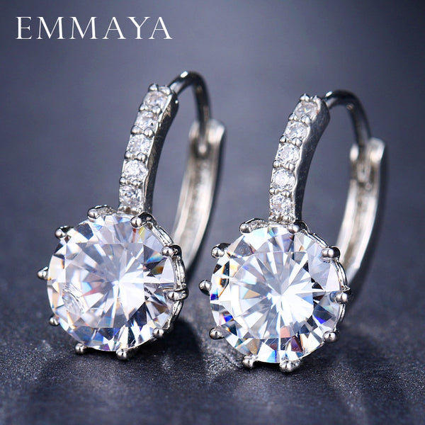EMMAYA Fashion 10 Colors AAA CZ Element Stud Earrings For Women Wholesale Chea Factory Price - Wel Bell