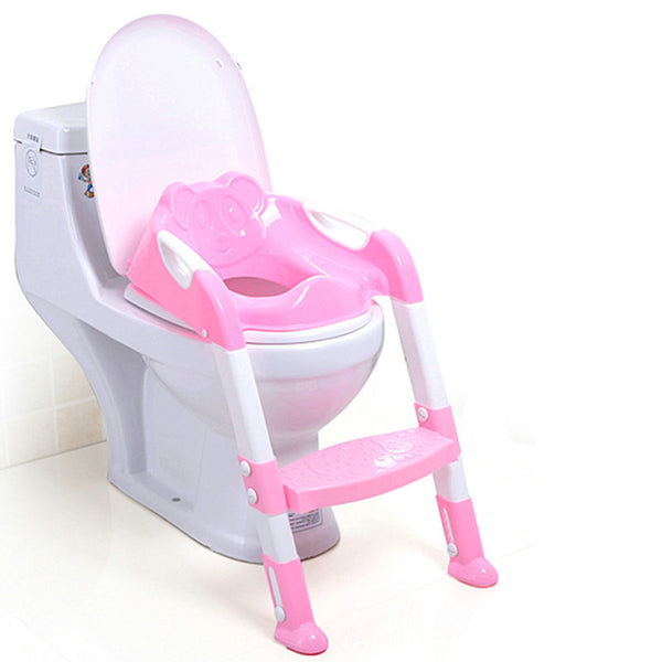 2 Colors Baby Potty Training Seat Children's Potty Baby Toilet Seat With Adjustable Ladder Infant Toilet Training Folding Seat - Wel Bell