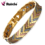 Rainso Health Magnetic Bracelet Bangle For Women Hot Sale Stainless Steel Bio Energy Bracelet Gold Fashion Jewelry - Wel Bell