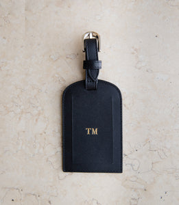 Leather Passport and Luggage Tag Set  - Classic Black