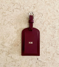 Leather Passport and Luggage Tag Set - Burgundy