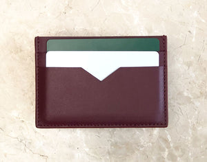 Leather Cardholder - Deep Burgundy