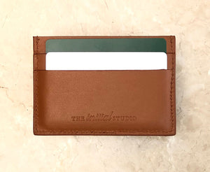 Leather Cardholder Set - Smooth Tan