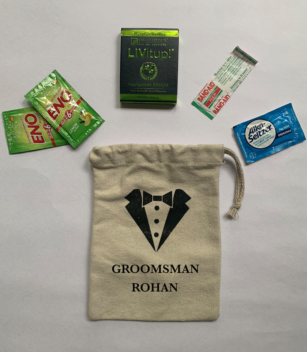 Groomsmen Drawstring Bag