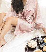 Satin Robe - Blush Pink