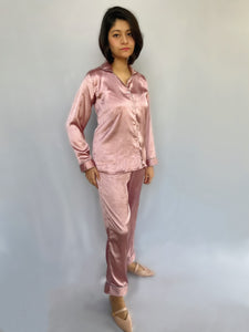 Soft Rose Satin Pyjama Set