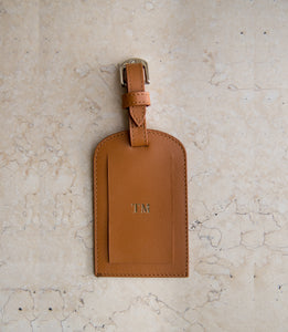 Leather Passport and Luggage Tag Set  - Smooth Tan