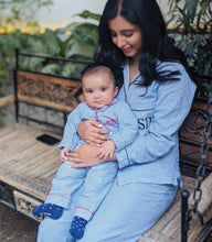Baby Pjs - Blue and White Stripes