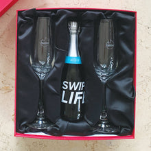 Tinder Flutes, Bottles and Gift Boxes