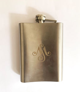 Engraved Stainless Steel Hipflask