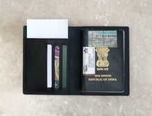 Leather Passport Wallet - Classic Black