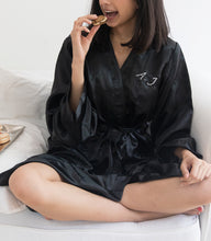 Satin Robe - Black