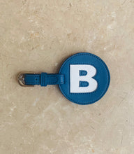 Circular Luggage Tag - Blue