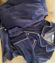 Velour Pjs - Ink Blue - His