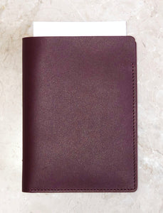 Leather Passport Wallet - Deep Burgundy