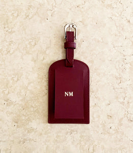 Leather Luggage Tags, Personalised Luggage Tags