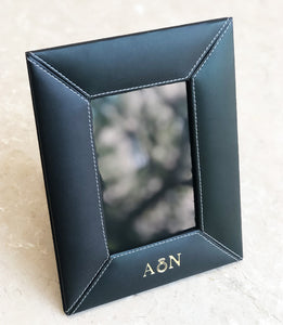 Vegan Leather Photo Frame - Black
