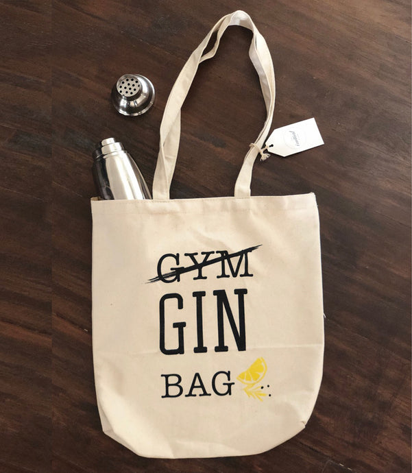 Canvas Tote Bag, Gin Tote Bag