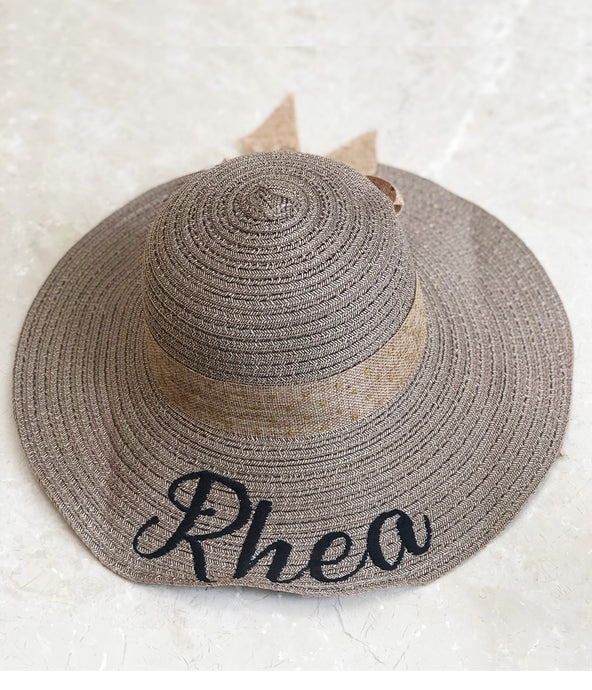 Personalised Embroidered Sun Hat