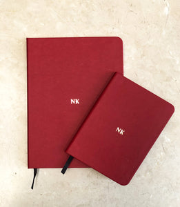 Large Notebook - Deep Red