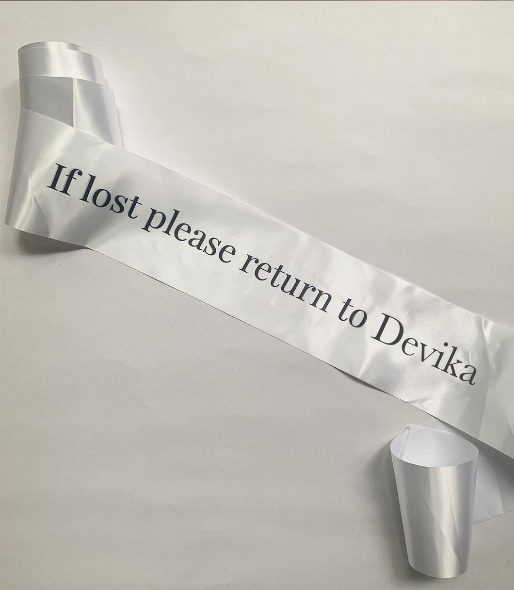 Personalised Lost Sash - His