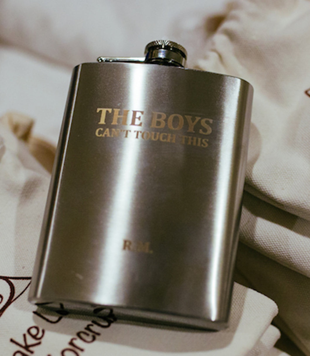 Steel Hipflask, Personalised Hipflask